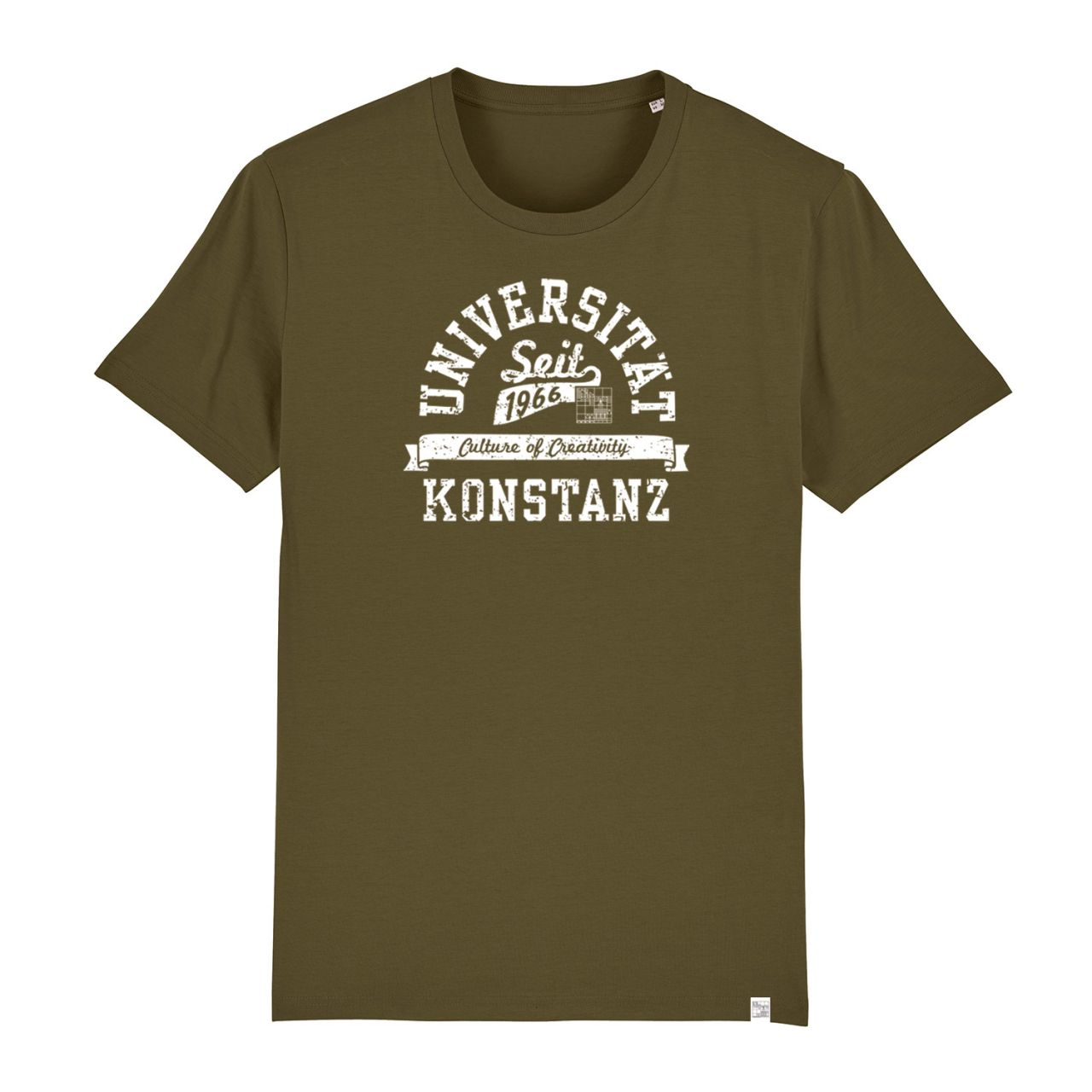 Herren Organic T-Shirt, khaki , berkley