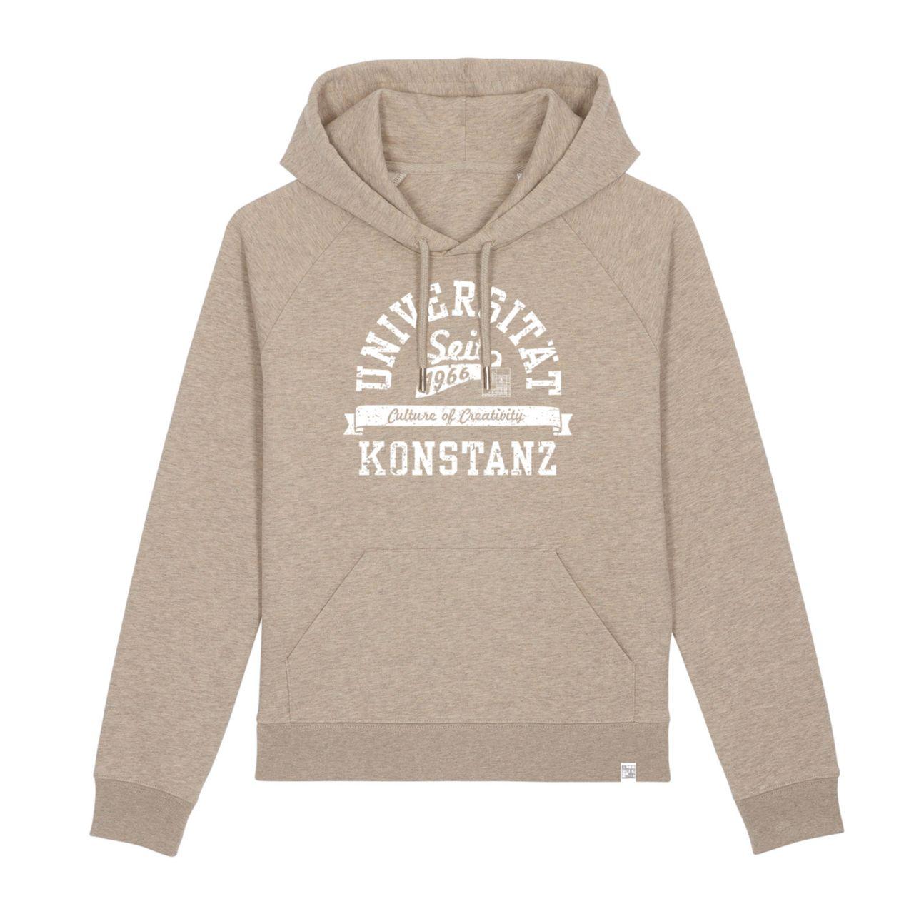 Damen Organic Hooded Sweatshirt, sand, berkley
