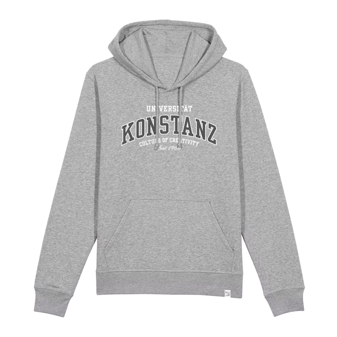 Unisex Organic Hooded Sweatshirt, heather grey, texas