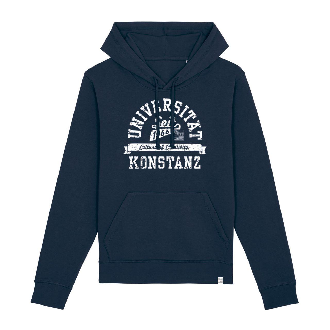 Unisex Organic Hooded Sweatshirt, navy, berkley